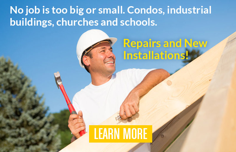 Industrial buildings, condos, churches and schools - James Roofing